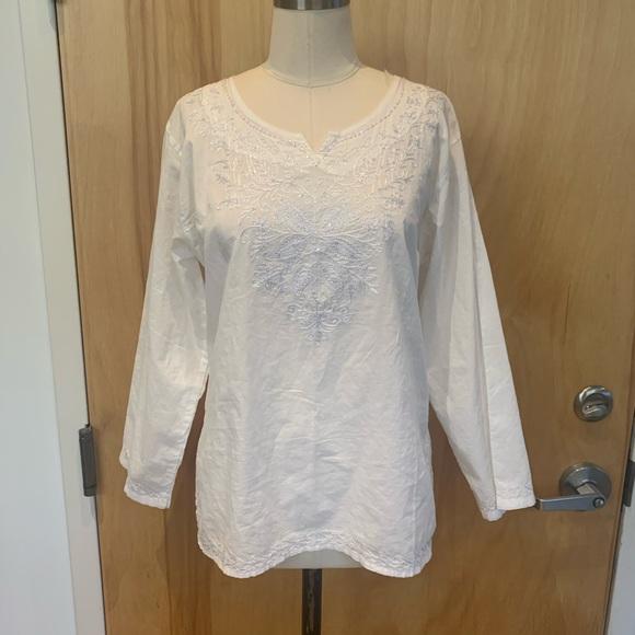 Indian cotton, white, lightweight tunic